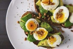 six minute egg on avocado toast
