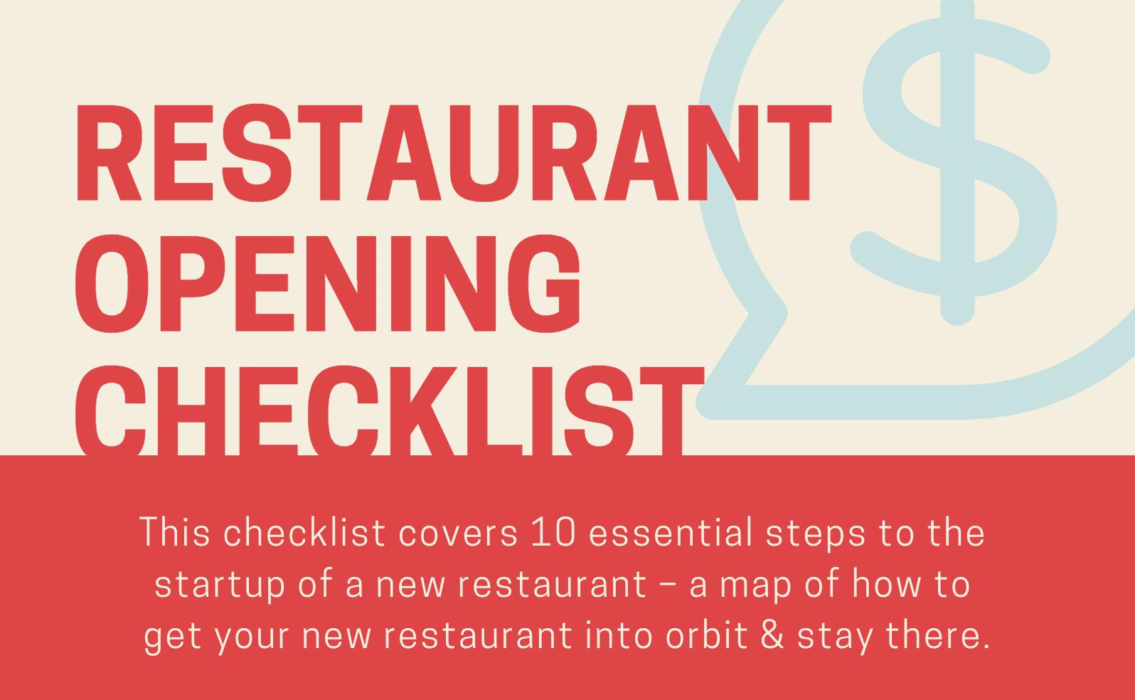 Restaurant Opening Checklist Header Image