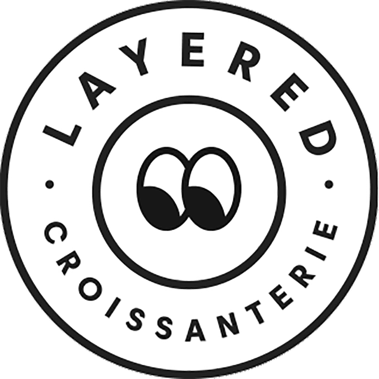 Layered Croissanterie logo